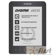 "Электронная книга Digma S683G 6"" E-ink HD Carta 1024x758 Touch Screen/4Gb/microSDHC/frontlight серый [397357], фото 1"