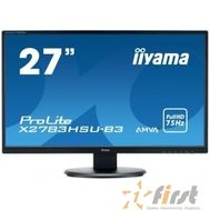 "IIYAMA 27"" X2783HSU-B3 черный {VA LED 1920x1080 4ms 16:9 3000:1 300cd 178гр/178гр D-Sub HDMI DisplayPort}, фото 1"
