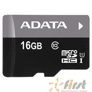 Micro SecureDigital 16Gb A-DATA AUSDH16GUICL10-RA1 {MicroSDHC Class 10 UHS-I, SD adapter}, фото 1
