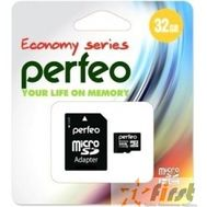 Micro SecureDigital 32Gb Perfeo PF32GMCSH10AES {MicroSDHC Class 10, SD adapter}, фото 1