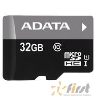Micro SecureDigital 32Gb A-DATA AUSDH32GUICL10-RA1 {MicroSDHC Class 10 UHS-I, SD adapter}, фото 1