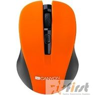 CANYON CNE-CMSW1O Orange USB {wireless mouse with 3 buttons, DPI changeable 800/1000/1200}, фото 1