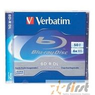 BD-R Verbatim 6-x, 50 Gb,  Jewel Case Ink Print диски (43736/43735), фото 1
