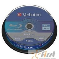 Verbatim Диск BD-R  6-x, 50 Gb,  Cake Box 10шт диски (43746), фото 1