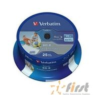 Verbatim  BD-R 25 GB 6x CB/25 Full Ink Print NO ID (43811), фото 1