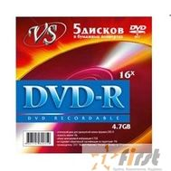 Диски VS DVD-R 4.7Gb, 16x (конверт 5шт.), фото 1