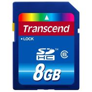 Transcend 8GB SDHC Card (SD2.0 SPD Class 6), фото 1