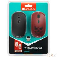 CANYON CND-CMSW401RS {wireless Optical  Mouse with 4 buttons, DPI 800/1200/1600, 1 additional cover(Red skull), black, 103*58*32mm, 0.087kg, 2.4GHz}, фото 1