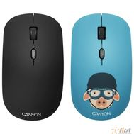 CANYON CND-CMSW401MP {wireless Optical  Mouse with 4 buttons, DPI 800/1200/1600, 1 additional cover(Military Pig), black, 103*58*32mm, 0.087kg, 2.4GHz}, фото 1