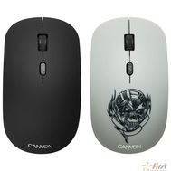 CANYON CND-CMSW401MC {wireless Optical  Mouse with 4 buttons, DPI 800/1200/1600, 1 additional cover(Metallica), black, 103*58*32mm, 0.087kg, 2.4GHz}, фото 1