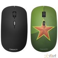 CANYON CND-CMSW400S {wireless Optical  Mouse with 4 buttons, DPI 800/1200/1600, 1 additional cover(Red Star), black, 103*58*32mm, 0.087kg, 2.4GHz}, фото 1