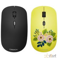 CANYON CND-CMSW400R {wireless Optical  Mouse with 4 buttons, DPI 800/1200/1600, 1 additional cover(Roses), black, 103*58*32mm, 0.087kg, 2.4GHz}, фото 1