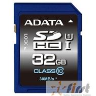 SecureDigital 32Gb A-DATA ASDH32GUICL10-R {SDHC Class 10, UHS-I}, фото 1