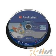 VERBATIM BD-R 25 GB 6x CB/10 Full Ink Print NO ID (43804), фото 1